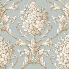 CS35621 - Classic Silks 3 Floral Beige Blue Galerie Wallpaper