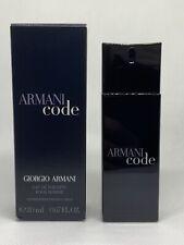 Armani Code By Giorgio Armani Eau De Toilette Pour Homme  0.67 Oz 20 Ml NIB