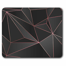 Computer Mouse Mat - Black Pink Abstract Art Deco Office Gift #21238