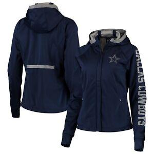 Dallas Cowboys Women's Kickoff Softshell Full-Zip Hooded Jacket – Navy