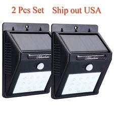 Solar LED Lights Solar Sensor Motion Light 12 LED Outdoor Lamp Waterproof 2 PCS