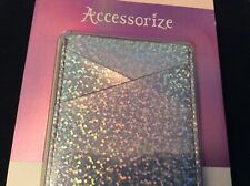 New Accessorize Mobile Phone Card Pocket Holder Sticker - Silver Metallic