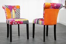 Stuhl Esszimmerstuhl Polsterstuhl bunt Patchwork Design PATCHY Sessel mehrfarbig