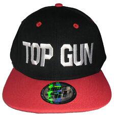 Top Gun Snap Back Hiphop Cap Rapper Hat Flat Visor Ball Cap