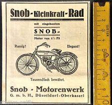 Motorrad,Klein Kraft Rad,Snob,Motorenwerk Düsseldorf,orig.Anzeige 1922