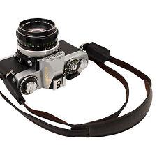 Black leather pad Camera neck shoulder strap for Film SLR DSLR RF Leica Digi