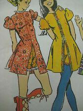 Vintage Simplicity 9544 MINI DRESS w/ SHORTY SHORTS Sewing Pattern Women Sz 10