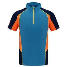 Men Breathable Stretch Quick Dry 1/4 Zip Up T-shirts Outdoor Cycling Sport Tees