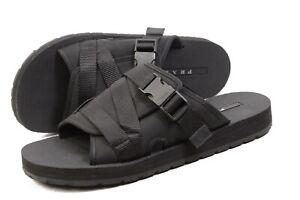 PRADA Nylon Tech Nomad Sandals Sliders UK10  / US11 / 44 authentic shoes mens