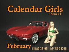"""American Diorama 1:18 Scale (10 cm) Figure - Calendar Girl """"February"""" # AD-38166"""