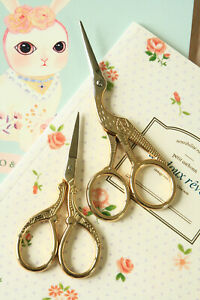 Gold Effect vintage style Scissors decorative craft scrapbooking sewing trimmer