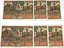 6 x Notgeld Eisenach , L.U.T.H.E.R , emergency money , M/G 320.3 ,  kfr./unc