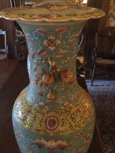 Chinese Vases Vintage Large Floor Size