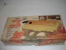 NEW Vintage Original Dazey Seal-A-Meal Food Bag Sealer SAM 1 Manual & Bags NIB