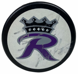 Signed ECHL Reading Royals Old Team Logo Official Hockey Puck RARE