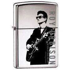 Rare Polished Chrome Roy Orbison Zippo Lighter