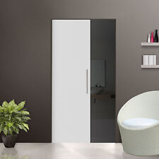 Glass Single sliding Pocket Door System  full set Frosted Glass  640 mm