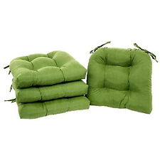 green chair cushions french country chair chair pads set of with ties cushion seat support kitchen sofa patio green patio chair cushions set ebay