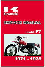 KAWASAKI Workshop Manual F7 1971 1972 1973 1974 1975 Maintenance Service Repair