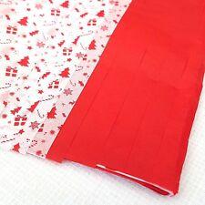 Papel de Seda Rojo y Blanco Navidad Envolvente 10x Grande Hojas 50 x 70cm