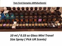 Tom Ford Perfume EDP 10 ml / 0.33 oz Mini Glass Travel Size Spray Authentic