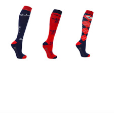 Hy Equestrian- Thelwell Socks 3pk- Added Bamboo