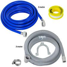Dishwasher Fill Hose Drain Extension Kit Universal 5m Extra Long + PTFE Tape