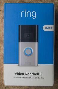 **BRAND NEW + FREE SHIP** Ring Video Doorbell 3 (8VRSLZ-0FC0)
