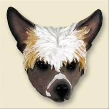 Chinese Crested Dog Head Painted Stone Resin Magnet