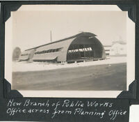 1945 WWII US Navy Sailor's Guam Photo Public Works Office bldg