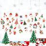 Fj- 19Pcs Albero di Natale da Parete Bell Pupazzo Neve Alce Forma Ciondoli Festa
