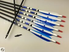 "9PCS 31"" Carbon arrows Turkey feather Spine 500 Handmade arrows Compound Recurve"