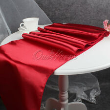 "10× Satin Table Runners Wedding 12""x108"" Multi Colors Table Runner"