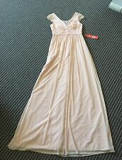 Adrianna Papell Gorgeous Blush Pink Maxi Dress US2=AU6 Retail Price $200