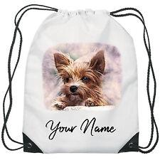 Personalised Dog Gym Bag PE Dance Sports School Swim Bag Waterproof