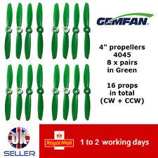 "Gemfan Propellers Quad Props 4"" 4045 x16 8 Pairs Green QAV 180 FPV Emax Racer UK"