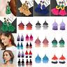 Women Bohemian Fashion Rhinestone Long Tassel Hook Fringe Dangle Drop Earrings