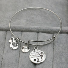I Love you to the Moon and back Tree of Life Charm Bracelet Bangles for Women