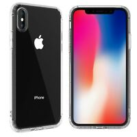 iPhone X XS 7 8 Plus Case Shockproof Transparent Clear Soft Gel bumper Cover