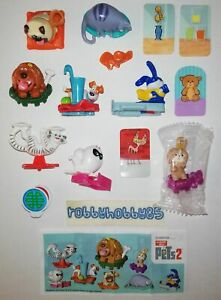 THE SECRET LIFE OF PETS 2 COMPLETE SET WITH ALL PAPERS KINDER SURPRISE 2019