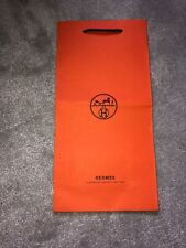 Authentic Hermes Orange Paper Gift Bag - Tall