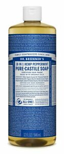 NEW Dr. Bronner's Pure-Castile Soap Liquid 18-in-1 Hemp Peppermint 946ml