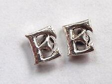 """The Letter """"E"""" Stud Earrings 925 Sterling Silver Corona Sun Jewelry e"""