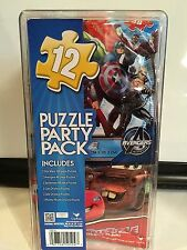 12 Puzzle Party Pack Disney Star Wars Avengers Spiderman Mickey Mouse Car Favors
