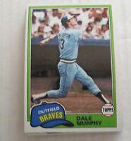 1981 Topps Atlanta Braves Dale Murphy #504  Lot Of 11 Ex+ - NM Mint
