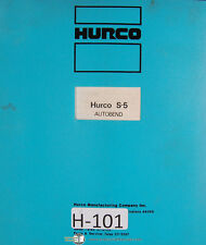 Hurco S-5, Autobend Gauging System, Operators Instruction Manual 1977