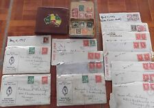 Rare Ww2 Era Lot of Envelopes Posted to Usa from Australia & Other Collectibles