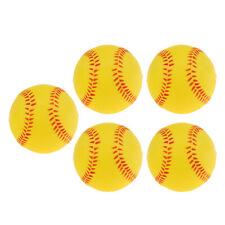 5x Safety Children Baseball Base Ball Practice Training Soft Softball Yellow