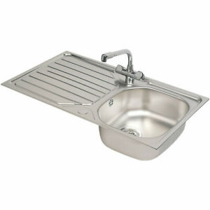 Franke Inset Sink & Mixer Tap Reno / Danube Stainless Steel 1 Bowl 860 x 500mm
