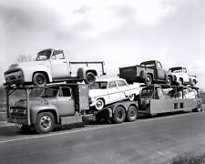 1954 Ford pickup trucks on Car carrier  8 x 10 Photograph